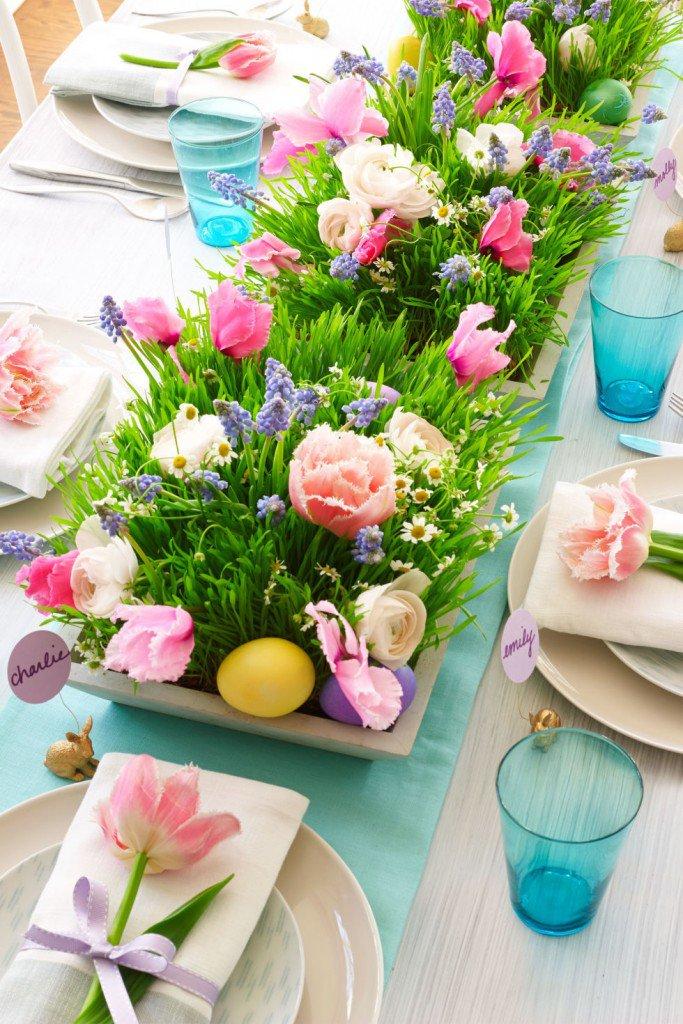 dekoracja wielkanocna stołu