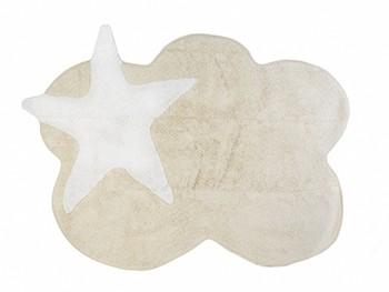 Dywan do pokoju dziecka - Aratextil Beżowa Chmurka z Białą Gwiazdą