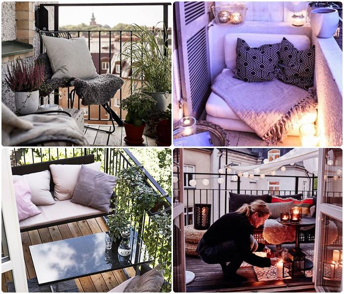 jak optycznie powiększyć małe mieszkanie balkon aranżacja
