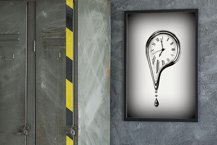 Obraz na kanwie The Time Melting Fototapeta4u.pl  1 - Surrealizm, abstrakcja, geometria - modne fototapety