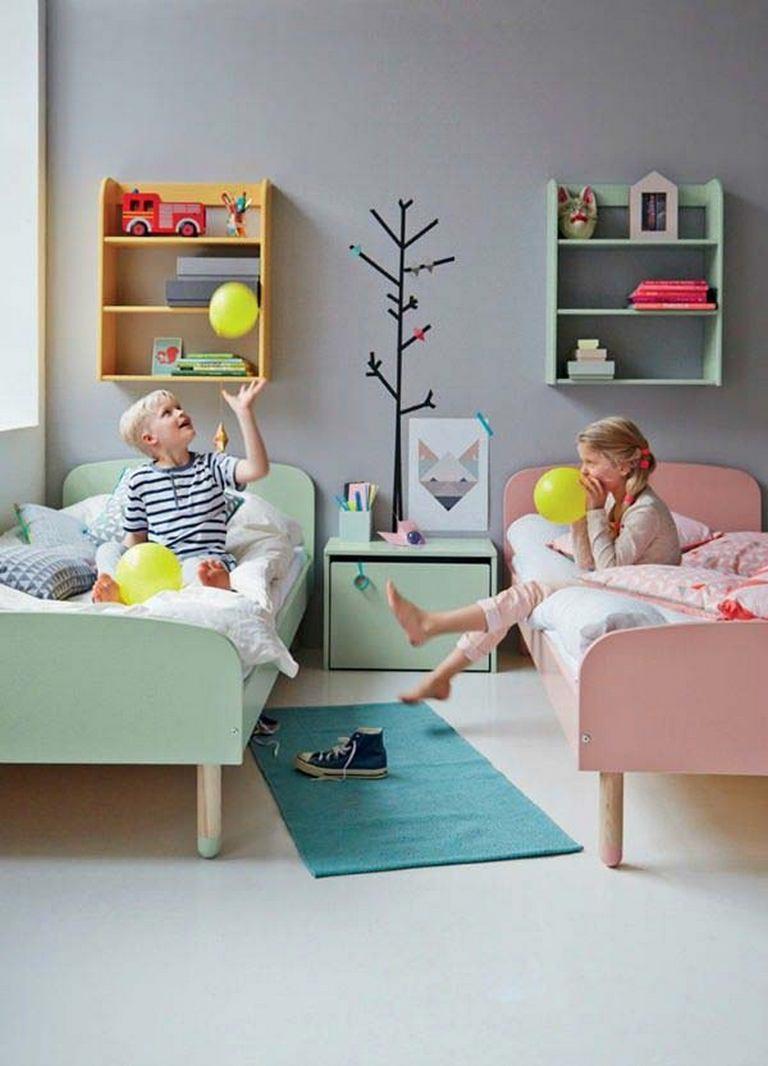 Sypialnia chłopca i dziewczynki