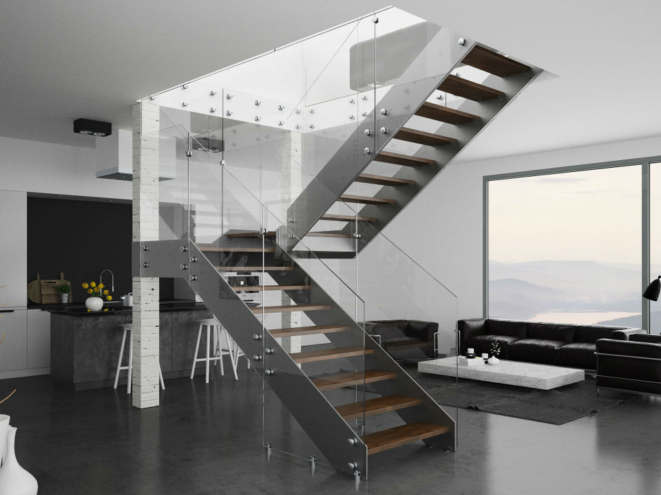 schody szklo