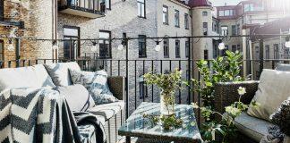 balkon w stylu skandynawskim