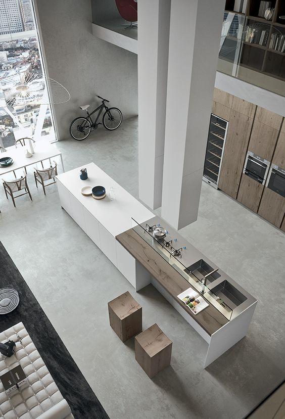 kuchnia loft w stylu minimalistycznym