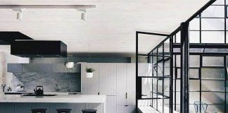 kuchnia loft w odcieniach szarości