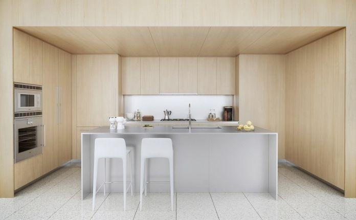 ściana w kuchni drewno