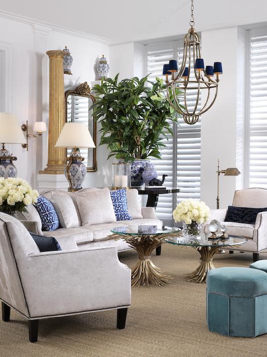 salon w stylu neoklasycznym