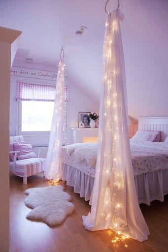 styl glamour w sypialni dziewczynki